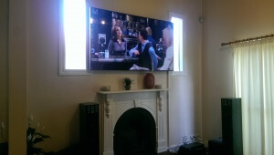 TV Installed on the wall