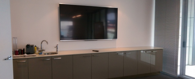 TV-Wall-Mounting-Derrimut-80inch-TV-Boardroom